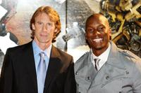 Michael Bay and Tyrese Gibson at the Japan premiere of