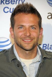 Bradley Cooper at the launch party for the new BlackBerry Curve.