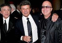 Frankie Valli, Frankie Avalon and Paul Shaffer at the after party of the opening night of