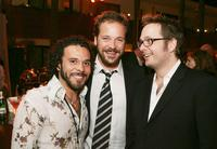 Michael Irby, Peter Sarsgaard and Director Robert Schwentke at the after party of the premiere of