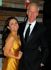 Julia Louis-Dreyfus and Brad Hall at the EMA & E! Golden Green after party.