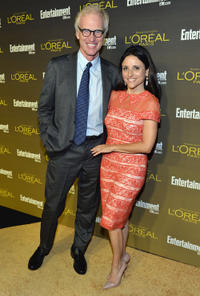 Brad Hall and Julia Louis-Dreyfus at the 2012 Entertainment Weekly Pre-Emmy party in California.