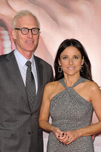 Brad Hall and Julia Louis-Dreyfus at the premiere of
