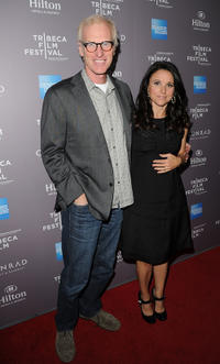 Brad Hall and Julia Louis-Dreyfus at the 2012 Tribeca Film Festival and American Express LA reception.