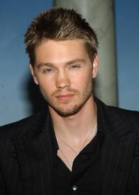 Chad Michael Murray at the unveiling of the Paris Hilton wax figure.