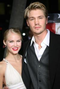 Chad Michael Murray and his fiancee Kenzie Dalton at the world premiere of