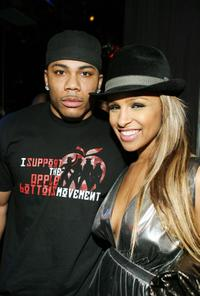 Nelly and Nicole Scherzinger at the after party of Pussycat Dolls by Robin Antin Fall 2008 fashion show during the Mercedes-Benz Fashion Week.
