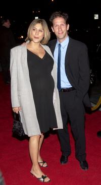 Lisa Benavides and Tim Blake Nelson at the premiere of