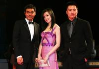 Ching Wan Lau, Kelly Lin and Director Johnnie at the premiere of