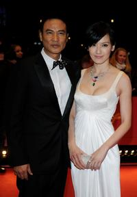 Simon Yam and Kelly Lin at the premiere of