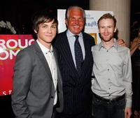 Logan Lerman, George Hamilton and Mark Rendall at the after party of the premiere of