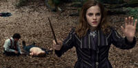 "Emma Watson as Hermione Granger in Warner Bros. Pictures' fantasy adventure ""Harry Potter and the Deathly Hallows: Part I.."""