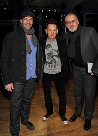 Jon Hamm, Jim Nelson and Jim Moore at the Rag & Bone Fall 2011 fashion show during the Mercedes-Benz Fashion Week.