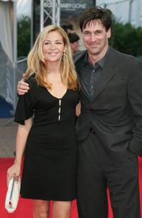Jennifer Westfeldt and Jon Hamm at the premiere of