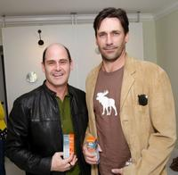 Executive Producer Matthew Weiner and Jon Hamm at the Luxury Lounge in honor of 2008 SAG Awards.