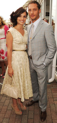 Charlotte Riley and Tom Hardy at the Ladies Day in England.