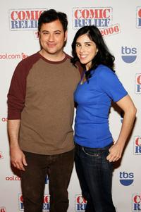 Jimmy Kimmel and Sarah Silverman at the Comic Relief 2006 show.