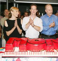 Natalie Teeger, Jason Gray-Stanford and Ted Levine at the 100th episode of