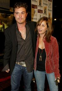 Clayne Crawford and his guest at the Hollywood Film Festivals closing night premiere of