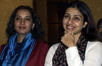 Shabana Azmi and Tabbu at the conference as part of a United Nations Children's Fund (UNICEF).