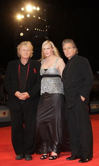 Rutger Hauer, Daryl Hannah and Edward James Olmos at the premiere of