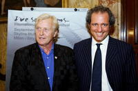 Rutger Hauer and Giovanni Terzi at the promotion of International Short Movie Festival