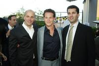 Producer Neal Moritz, Cole Hauser and Scott Stuber at the premiere of