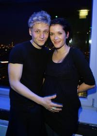 Matthias Schweighofer and Ani Schromm at the premiere of