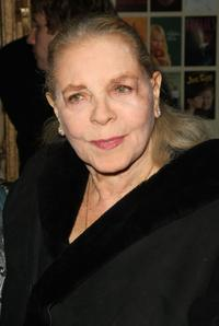 Lauren Bacall at the opening night of