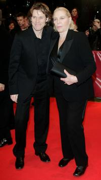 Willem Dafoe and Lauren Bacall at the premiere of