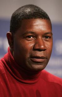 Dennis Haysbert at a press conference of