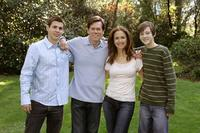 Stuart Lafferty, Kevin Bacon, Kelly Preston and Jordan Garret in