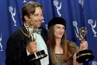 Beau Bridges and Holly Hunter at the Emmy awards.