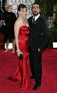 Barbara Hershey and Naveen Andrews at the 63rd Annual Golden Globe Awards at the Beverly Hilton.