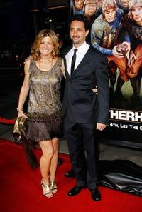 Grant Heslov and wife Lisa at the premiere of