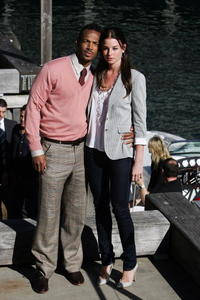 Marlon Wayans and Rachel Nichols at the press conference of
