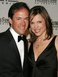 Dan Hicks and Hannah Storm at the Actors Fund of America annual gala.