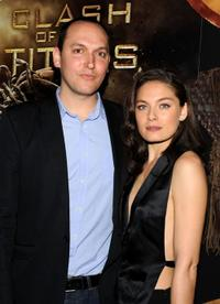 Louis Leterrier and Alexa Davalos at the premiere of