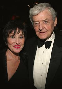Hal Holbrook and Chita Rivera at the National Corporate Theater Fund Honors Chita Rivera dinner in New York City.