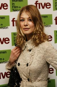 Rosamund Pike at the Five Women In Film And TV Awards.