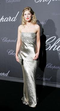Rosamund Pike at the Chopard Trophy during the 60th International Cannes Film Festival.