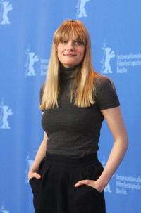 """Romola Garai at a photocall for """"Angel"""" in Berlin, Germany."""