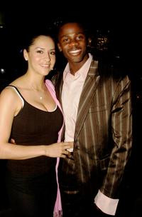 Derek Luke and wife Sophie at the Australian GQ Men of the Year awards 2003.