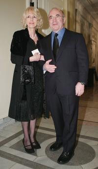Bob Hoskins and wife at Cinema For Peace Awards.