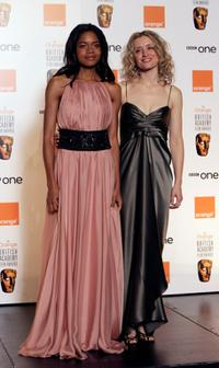 Naomie Harris and Anne-Marie Duff at the Orange British Academy Film Awards.