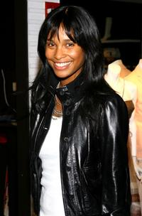 Joy Bryant at the celebration of the arrival of Brian Atwood's first Spring collection with New Yorkers For Children.