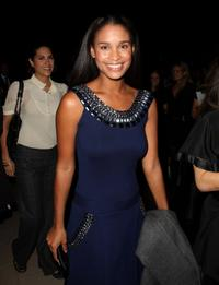 Joy Bryant at the Temperley London fashion show during the Mercedes-Benz Fashion Week Fall 2008.
