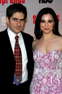 Michael Imperioli and Cara Buono at the HBO premiere of