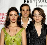 Esther Zimmering, Egbert-Jan Weeber and Director Angelina Maccarone at the premiere of