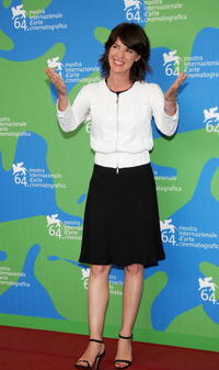 Irene Jacob at the 64th Venice Film Festival, attends the photocall of